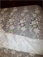 Sheer Vintage Curtain Panels (2)