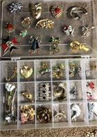 Costume Jewelry Pin Lot
