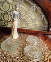 Glass Bowls And Figure