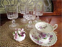 Royal Albert Bone China And Wine Glasses