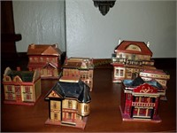 Wooden House Trinket Boxes