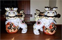 Asian Kutani Foo Dogs