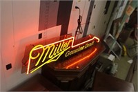 Light Up Miller Advertising Sign, It Works
