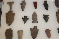 Display Case of Arrow Heads