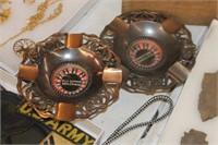 2 Mini Roulette Ash Trays