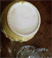 Frosted Glass Heart Bowls And Pottery