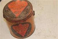 Vintage Red Top Axle Grease Can
