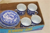 Lot of Blue Cups & Saucers