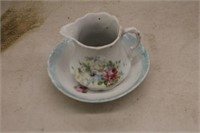 Small Vintage Pitcher & Bowl
