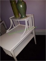 End Table With Pottery