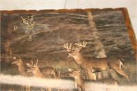Deer Clock 16x19.5
