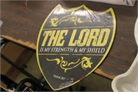 The Lord is my Strength Metal Sign