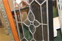 Lead Glass Window Pane,13.5x56