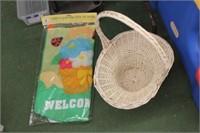 Garden Flag & Basket