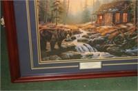Framed Bear Print