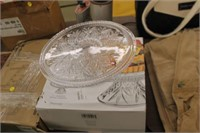 """Dublin 12""""D Crystal Cake Plate"""