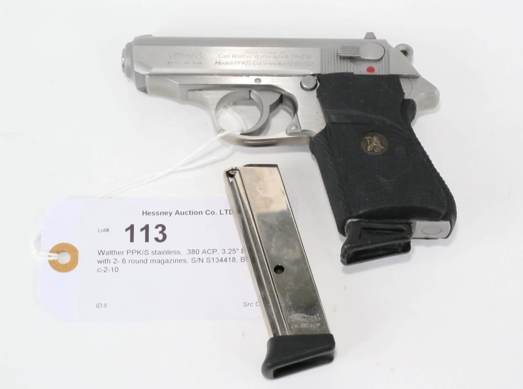 Walther PPK/S stainless,  380 ACP, 3 25
