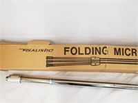 NEW Realistic Folding Microphone Stand 33-325A