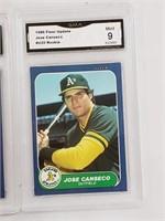 1986 Fleer Update Mint 9 Bonds Clark Canseco RCs