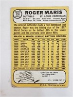 1968 Topps #330 Roger Maris St Louis Cardinals