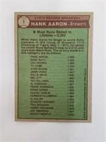 1976 Topps #1 Hank Aaron 75' Record Breaker