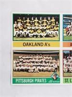 1976 Topps Uncut Sheet Of Team Baseball Cards