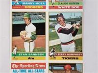 1976 Topps Uncut Sheet W/ Lou Gehrig