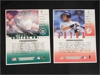 LARGE 98 Studio Baseball Ken Griffey Derek Jeter