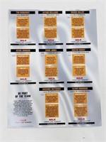 UNCUT Sheet of 98 Basketball Topps Milk Mustache