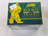 1991 Score NHL Rookie And Traded 110 Card Set