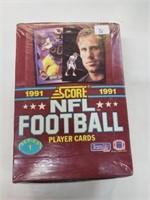 1991 Score NFL Football Cards Box Series 1 Box