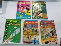 (5) Vintage Looney Tunes Jughead Casper Comic Lot