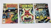Marvel Avengers Iron Man & Greatest Comics Lot