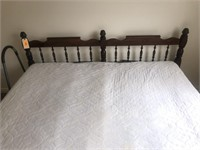 King Size Bed Frame, Headboard and Mattress