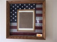 Oak Framed Flag and Declaration of Independence