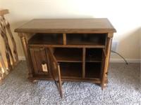 Wood Entertainment Cabinet