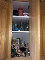2) CupboardsFull of Dishes,Glasses, Pyrex, Plates