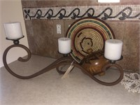 Decor: Wood Top, Candle Holder, Hot Plate Holders