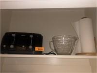 Glass Measuring Bowl, Toaster, Paper Towel Holder