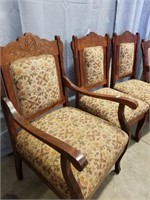 4 Parlour Chairs. Matches To Lot #1017