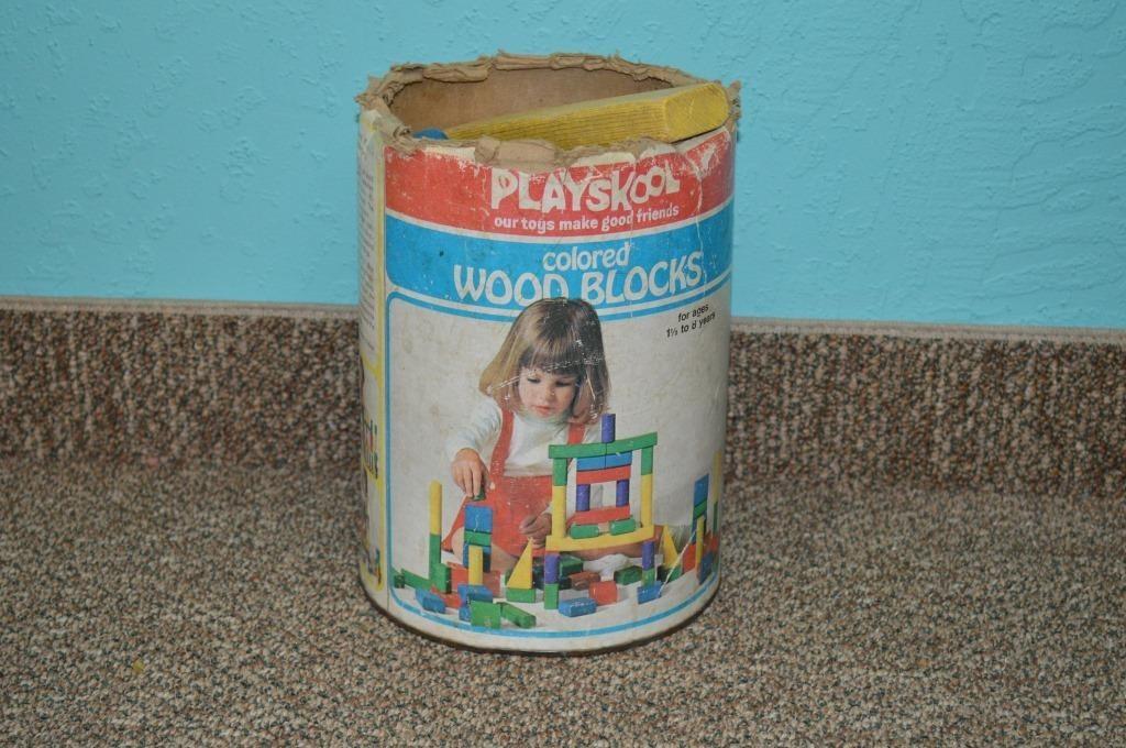 Box Of Original Playskool Wood Blocks Toodle Loo Auctions