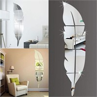 Feather 3D Acrylic Mirror Dressing Mirror Whole
