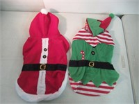 """Lot of (2) Christmas Dog Sweaters, Size 16-18"""""""