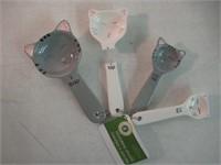 """As Is"" Fox Run 11717 Ceramic Cat Measuring Spoon"