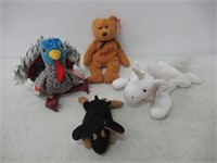 Lot of (4)  Beanie Babies