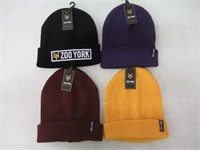 (4) Zoo York Knit Winter Hats, Assorted Colours