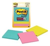 "Post-it Super Sticky Notes, 3"" x 3"", Miami"