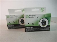 (2) Premium Ink Cartridges, Black, B-LC41BK