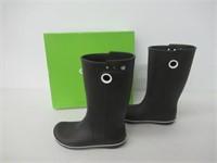 Crocs Women's 8 Crocband Jaunt Rain Boot, Black