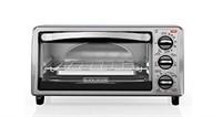 BLACK+DECKER 4 Slice Toaster Oven, 4 Functions,